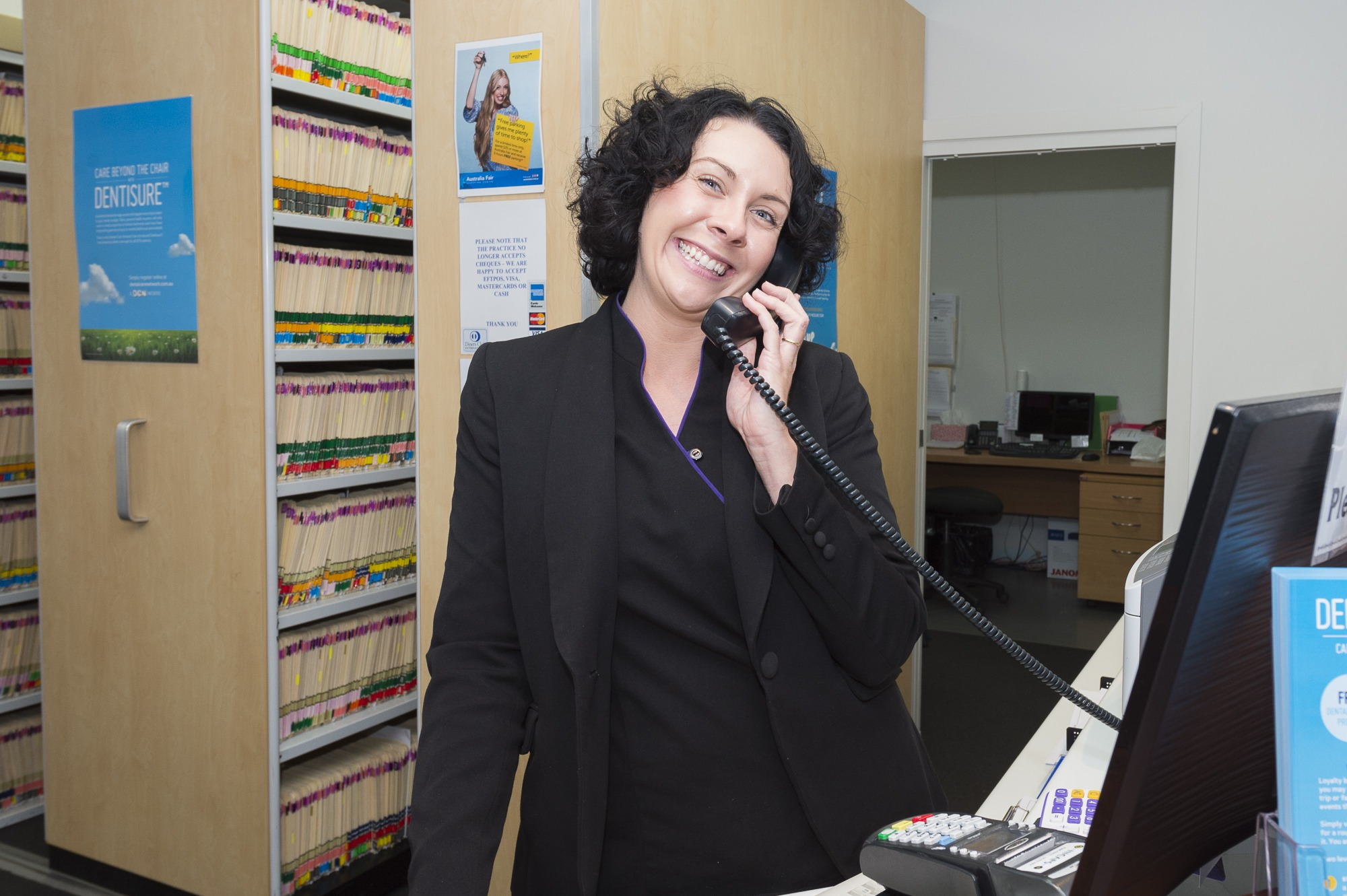 Reception staff at Taylor Dental Implants and Aesthetics